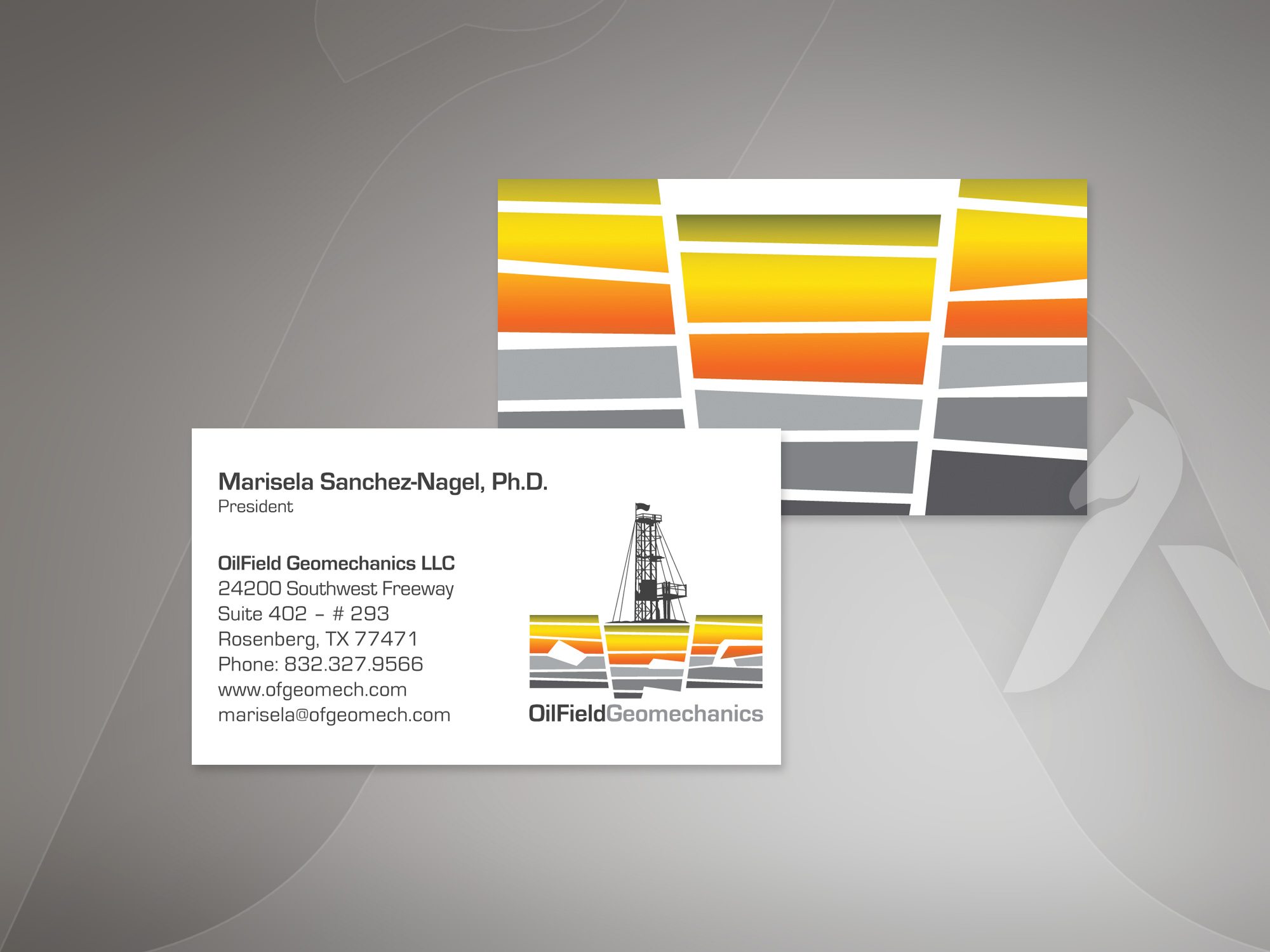 Oilfield Geomechanics logo & business card design by Hakubashi